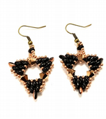 NEW SWAROVSKI®  and Superduo beads Triangle Earrings Kit